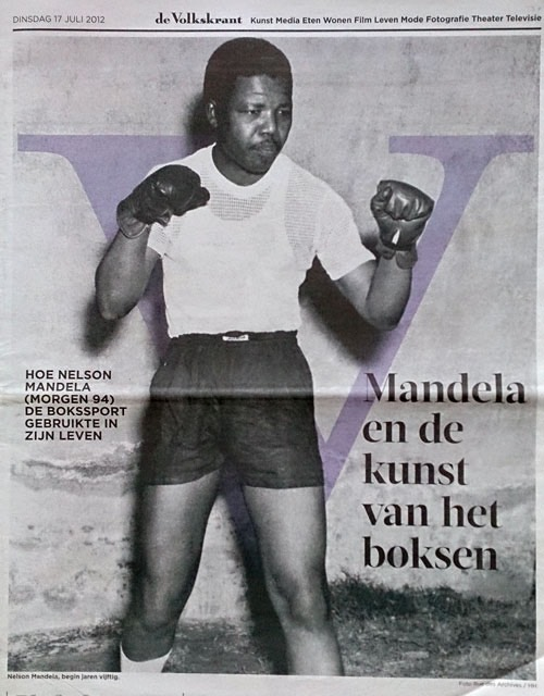 Nelson Mandela, South African anti-apartheid revolutionary, politician, and philanthropist, boxer